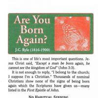 "CLASSIC tract ~ JC Ryle ""Are you Born Again?"""