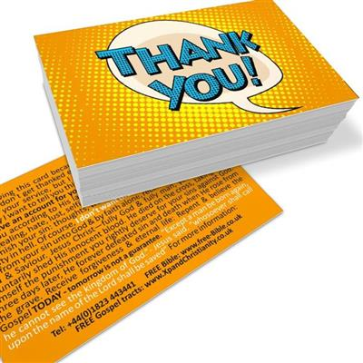 "Our free ""Thank you"" Gospel tract"